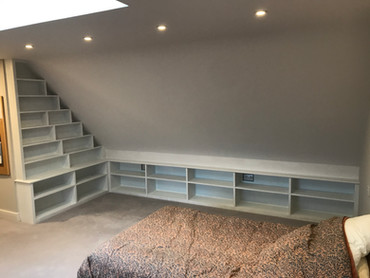 Bookcase and storage area