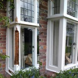 Repaired bay window