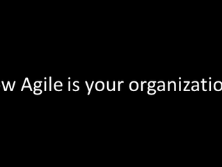 How agile is your organization?