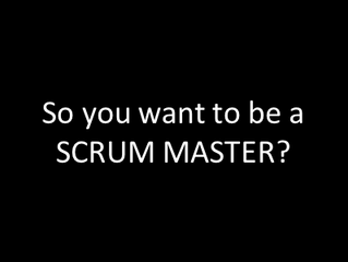 A Scrum Master IS NOT a Project Manager