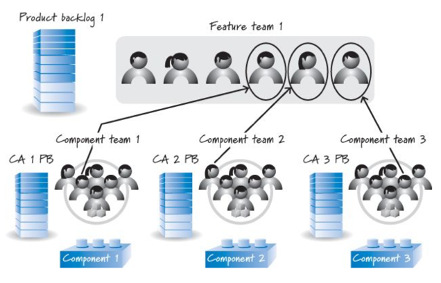 Feature-Component Hybrid Team