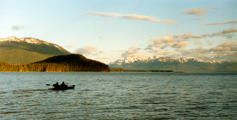 Kayaking at Lena Cove, Alaska 1987 lr.pn