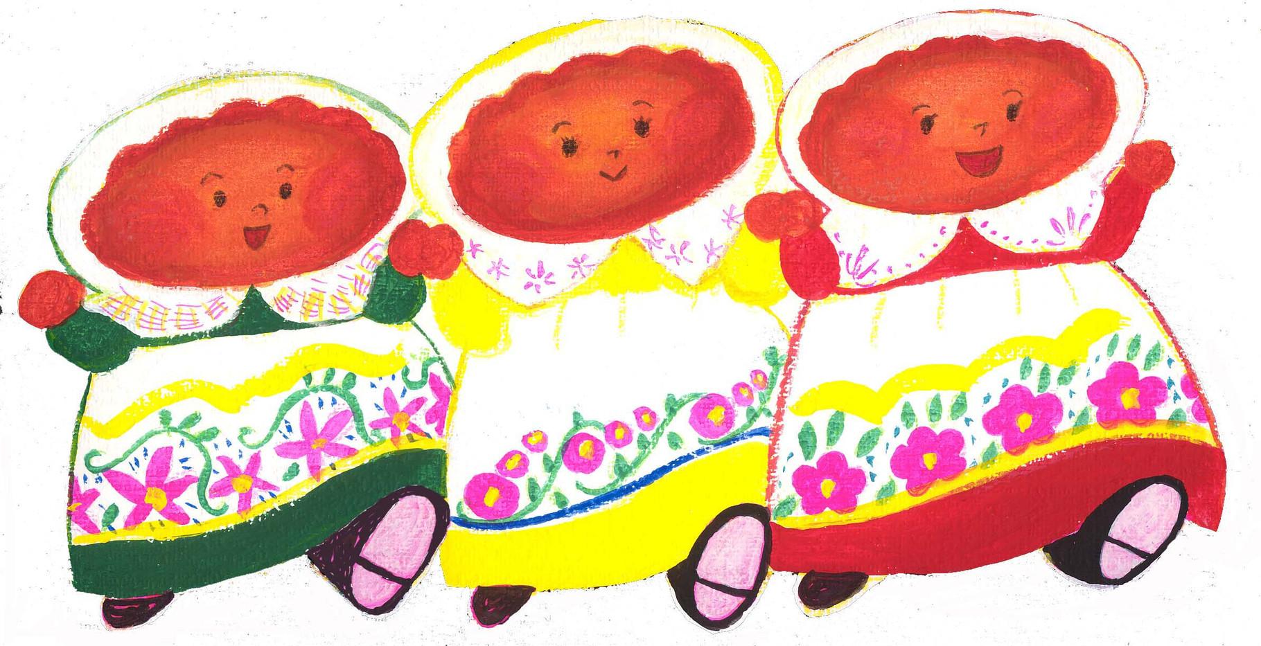 ピロシキ三姉妹