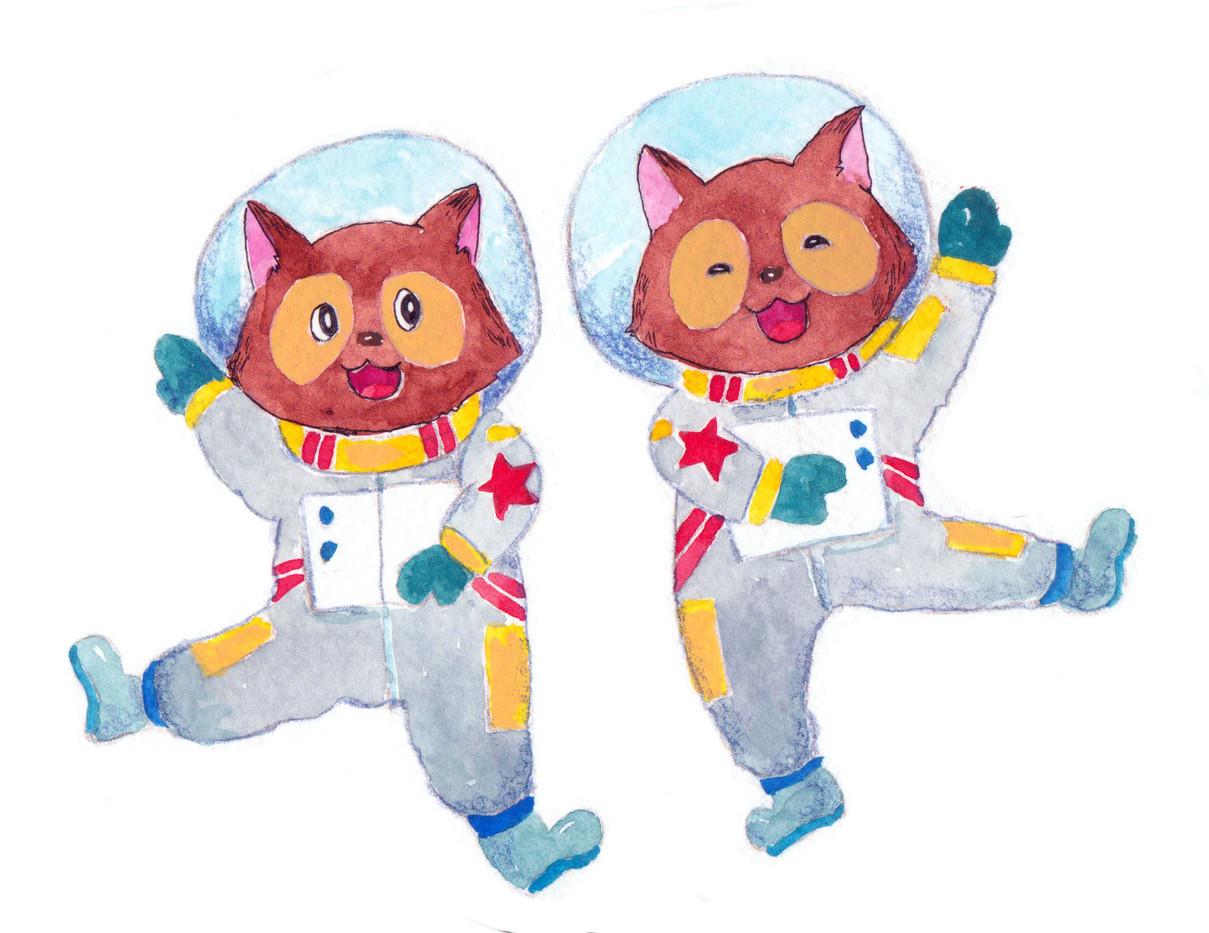 たぬきの宇宙飛行士.jpg