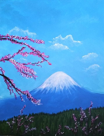 Mount Fiji and Cherry Blossom Dream.jpg