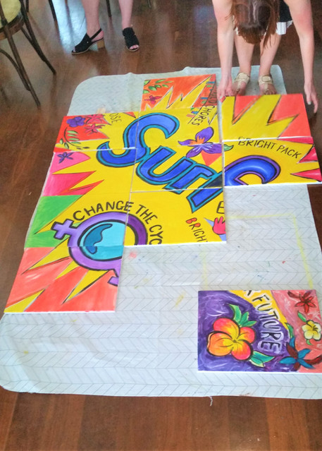 Team Building Customised Painting
