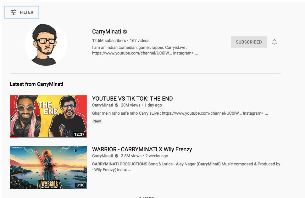 Youtube vs Tik Tok:Who is carryminati? Why carryminati is ...