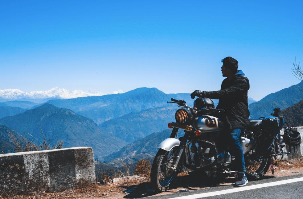 Bike on mountain roads