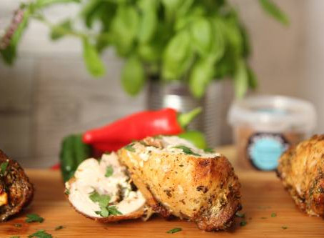 Mediterranean Stuffed Chicken Thigh by The Greedy Fox