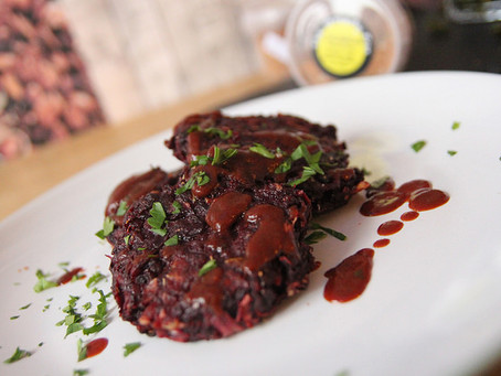 Beetroot Fritters by The Greedy Fox
