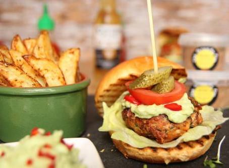 Caribbean Salmon Burger by The Greedy Fox