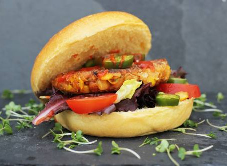 Chickpea and Corn Burger by The Greedy Fox