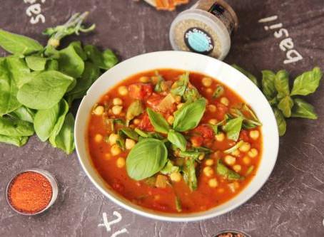 Mediterranean Tomato Soup by The Greedy Fox