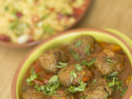 Moroccan Meatball Stew by The Greedy Fox