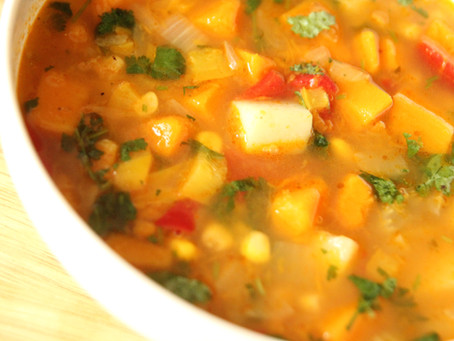 Mexican Veg Soup by The Greedy Fox
