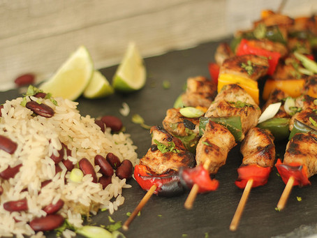 Caribbean Coconut Chicken Kebab by The Greedy Fox