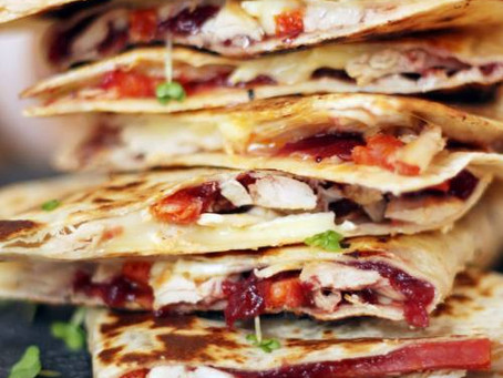 Leftover Christmas Quesadilla by The Greedy Fox