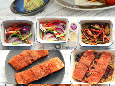 Cajun Salmon Fajitas by The Greedy Fox