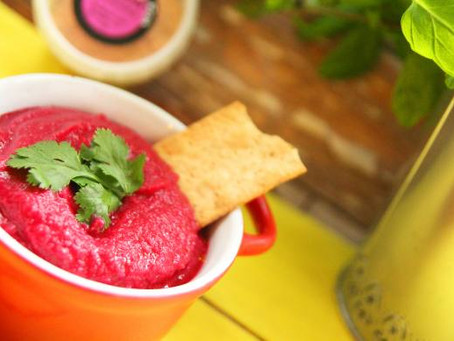 Cajun Beetroot Hummus By The Greedy Fox