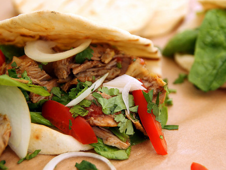 Slow cooker Moroccan Lamb Shawarma by The Greedy Fox