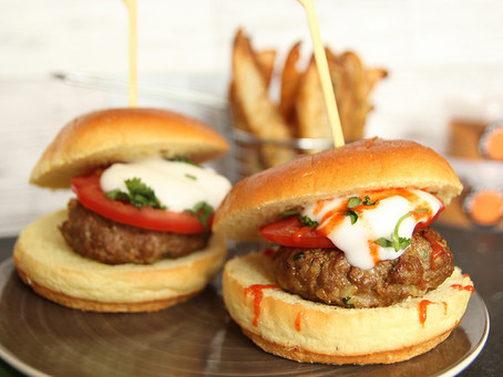 Moroccan Lamb Burgers by The Greedy Fox