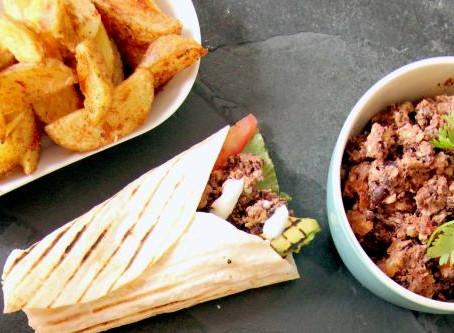 Mexican Black Bean and Walnut Taco