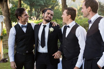 Rustic-chic groom
