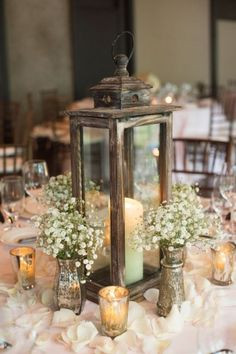 Farm style vintage wedding decor