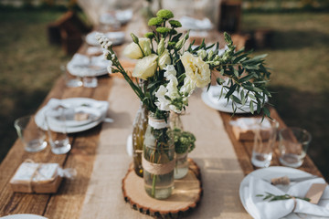 Vintage chic farm wedding