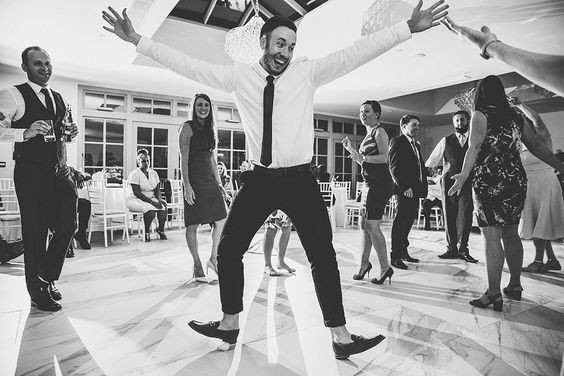 Guests dancing in a Country Wedding venue