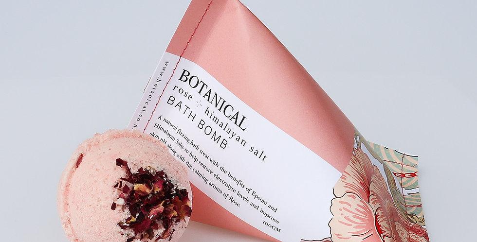 ROSE + HIMALAYAN SALT BATH BOMB
