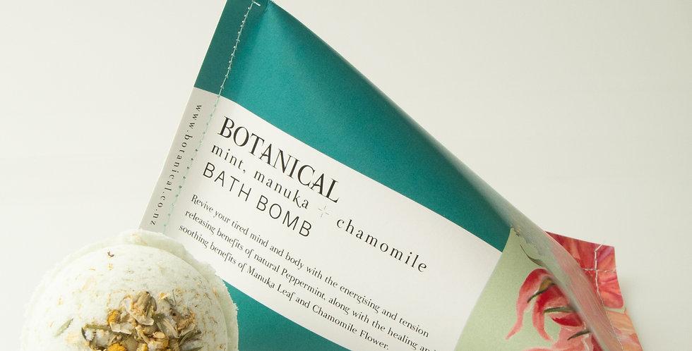 MINT, MANUKA & CHAMOMILE BATH BOMB