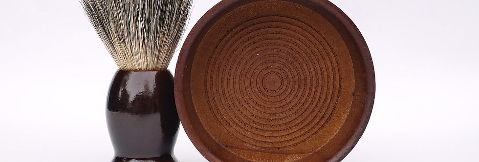 ROSEWOOD SHAVING BRUSH + BOWL
