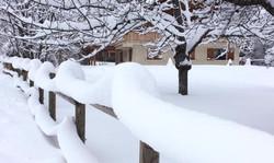 Chute de Neige à Granier