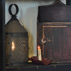 Chimney Lantern Vignette