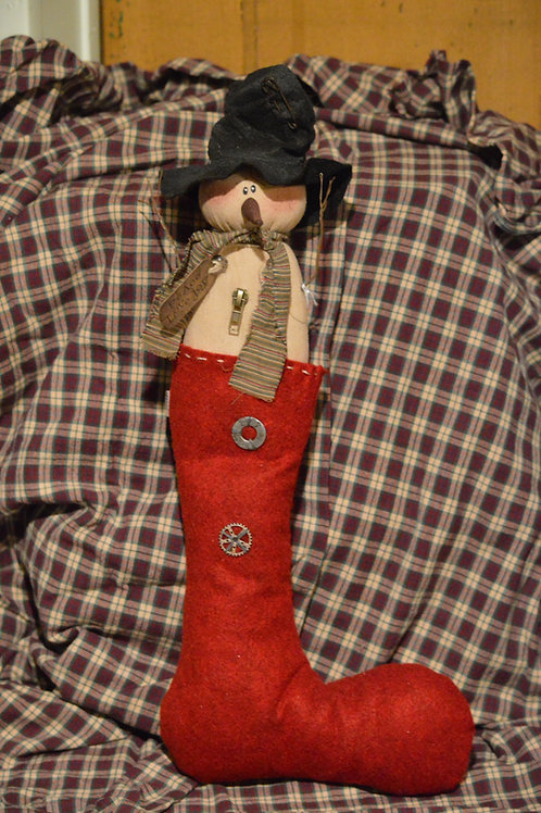 Peace, Love, Joy Snowman Stocking