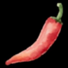 Pimienta de chile rojo