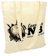 sacola de algodão crú
