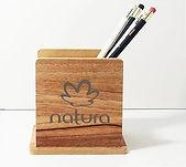 porta caneta de madeira