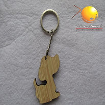 chaveiro de madeira personalizado