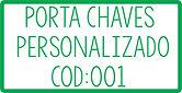 PORTA CHAVES PERSONALIZADO