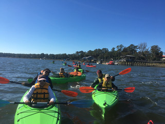 Kids in Kayaks with River Ridge Academy!