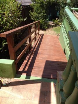 Treated pine access ramp