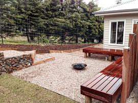Entertaining area with firepit