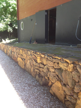 Ironstone wall
