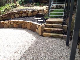 Sandstone walls and steps