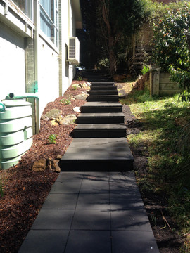 Paved stepped path