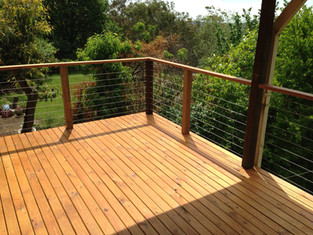 Treated pine deck