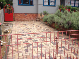 Recycled brick driveway and Gate