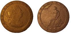Coin - 1797 - George III - Cartwheel Pen